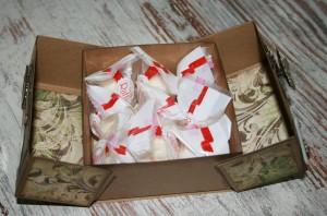 Geschenkbox Muttertag offen