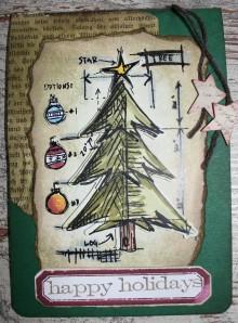 Karte: Weihnachtsbaum