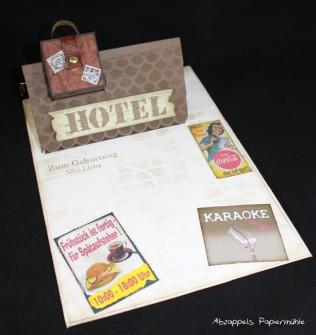 Geldwürfelkarte Hotel