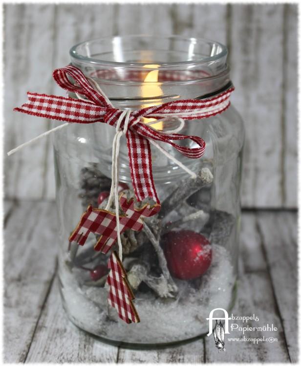 Weihnachtsdeko im glas abzappels papierm hle for Weihnachtsdeko im auayenbereich