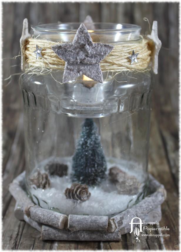Weihnachtsdeko im Glas (4)